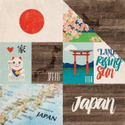 Around The World Double-Sided Cardstock 30cm x 30cm -Japan