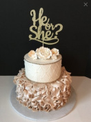 He or She Cake Topper
