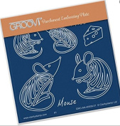 Groovi Parchment Embossing Plate - Mouse Baby Plate Template - Laser Etched Acrylic for Parchment Craft