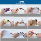 Teanfa Metal Handheld 1-Hole Paper Punch, 0.6cm Hole Size, 8 Sheets Capacity and Perfect for Arts, Crafts and Designs, Comes with Catcher for Quick Cleanup