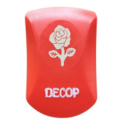 DECOP Embossed Craft Punch 32mm (1.25inch) Elegant Rose