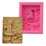Mr.S Shop Angel Girl Swinging Flower Fairy Silicone Mould Cake Decoration Tools Handmade Soap Mould Silicone Candle Mould