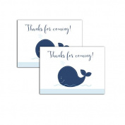 Navy Whale Nautical Thanks for Coming Gift Tags | Favour Tags | make your own DIY favours