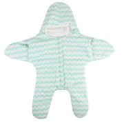 crownroyaljack Infant Baby Sleeping Bag Starfish Shaped Winter Warm Stroller Sleeping Sack, Green & White