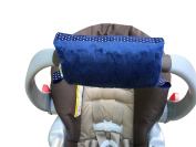 Padalily The Original Car Seat Handle Cushion/Pad/Pillow Newborn 0-12 months (Luxe Navy), Monogram Me