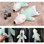 Cute Doll Car Seat Strap Belt Toy Cushion Cover for Kids Children, Auto Adjustable Pillow Pad Vehicle Car Safety Belt Toy Protect Shoulder Chest Child
