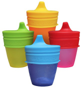 Sippy Cup Lids By MrLifeHack (4 Pack) Makes Any Cup Or Bottle Spill Proof, 100% BPA Free Silicone, Leak Proof, Perfect for Toddlers & Babies
