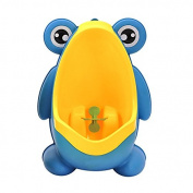 Geekercity Cute Frog Boys Potty Toilet Training for Toddler Boys Pee Trainer Bathroom Children Urinal with Funny Whirling Aiming Target
