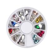 DDLBiz 3D Acrylic Nail Art Tips Decoration Flat Back Glitter Rhinestones Pearls Beads