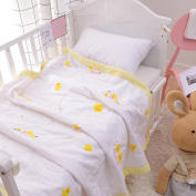 J-pinno Baby Little Ducks Nursery Muslin Cotton Bed Quilt Blanket Crib Coverlet 110cm X 110cm