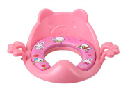 Nima's Pink soft potty seat with handles | easy clean | for elongated toilet
