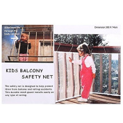 NEWSTYLE Kid Safe Deck Guard - Safety Net Railnet for Balcony, Stairway and Patios - 3mL x 0.8mH