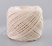 (3mm x 100m(about 109 yd)) Handmade Decorations Natural Cotton DIY Wall Hanging Plant Hanger Craft Making Knitting Cord Rope Natural Colour Beige
