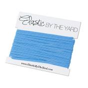 5 Yards of Columbia Blue 0.3cm Skinny Elastic - ElasticByTheYard