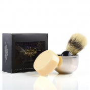 Anbbas Mens Bristle Shaving Brush and Soap,Bowl Traditional Wet-shave Set