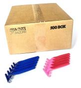 500 Box Combo Pack of Blue & Pink Bulk Disposable Twin Blade Razors for Men & Women