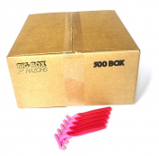 500 Box of Quality Pink Bulk Disposable Twin Blade Razors for Women