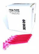 60 Box of Quality Pink Bulk Disposable Twin Blade Razors for Women