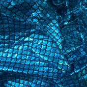 1.3cm Mermaid Scales Hologram Fish Scale 4 Way Stretch Spandex Green, 150cm Wide – Sold By The Yard
