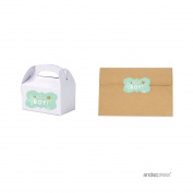 Andaz Press Twinkle Twinkle Little Star Mint Green Baby Shower Collection, Fancy Frame Label Stickers, It's a Boy!, 36-Pack