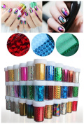 XICHENStarry Sky Stars Nail Art Stickers Tips Wraps Foil Transfer Adhesive Glitters Acrylic DIY Decoration (48PCS / Colours)