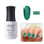 Gel Nail Polish, HNM Soak Off UV LED Bling Neon Colour Gel Polish Nail Varnish Manicure Beauty Salon 8ML 3710