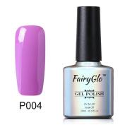 Purple Nail Polish Soak Off UV LED Gel Lacquer Nail Art Varnish Sensational Colour Manicure Decor Kit 10ml FairyGlo 001