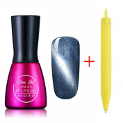 Beau Gel Soak off UV LED Gel Nail Polish 3D Cat Eye Magnetic Nail Varnish Nail Art Manicure Pedicure 7ML with Free Magnet Pen 6584