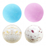 Coosa Bath Bombs Gift Set - 4 Organic Essential Oil Handmade Spa Fizzies Bath Bomb, Nature Shea Butter for Moisturising Dry Skin Relaxation in a Box