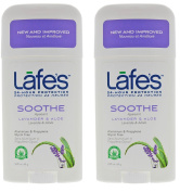 Lafe's Soothe Natural Deodorant Twist-Stick (Pack of 2) with Grapefruit Seed Extract, Witch Hazel Extract, Coriander Extract, Aloe Vera and Allantoin, 70ml