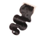 Brenda 46cm Brazilian Virgin Human Hair Lace Closure Free Part Bleached Knots 10cm x 10cm With Body Hair Natural Colour