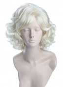 Women Wigs Short Blonde Curly Wave Halloween Costumes Cosplay Wig