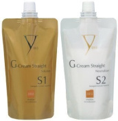 Yuko G-Cream Straight Damaged-Chemically Treated Hair - Solution & Neutralizer Set