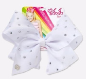 Jojo Siwa White Rhinestone Signature Bow - Large