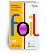 Product Club Embossed Pre-Cut Foil 13cm x 20cm 225ct Asst Colours