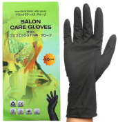 Black Reusable Latex Gloves, Salon Hair Colour Dye Gloves-Medium size
