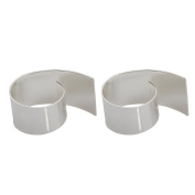 Rurah Napkin Rings Stainless Steel, Packing of 2 Silver