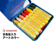 "Na)"" Lang= UTC May Beeswax Crayon Stick Art Colour 8 Colour Cans [STOCKMAR Baby Gifts Entrance Celebration Crayon Crayon Beeswax Crayon]"