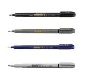 Zebra Fude Sign Brush Pen Regular Extra Fine Medium Usu-Zumi Grey Ink Value Set of 4