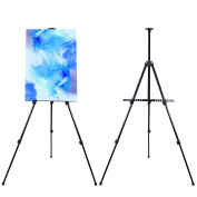 TheDisplayDeal TM Field Easel Stand for Painting,Office, Display - Adjustable Height Folding Tripod up to 160cm Tall.