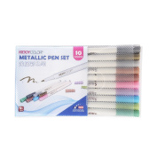 10 Colours Metallic Marker Pens Colourful Ink Scrapbook Greeting Conda Hook Line