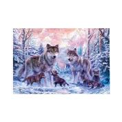 5D DIY Diamond Painting ,Cross Stitch Kit Awakingdemi Wolf Family 5D Diamond DIY Painting Kit Home Decor Craft
