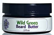 Wild Green Beard Butter - Beard and Skin conditioning, Control Fly Aways, Manly Scent, All Natural with Shea Butter and Argan Oil