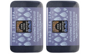 One With Nature Activated Charcoal Soap (Pack of 2) With Dead Sea Minerals, Argan Oil and Shea Butter, 210ml Each