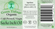 SACHA INCHI OIL (Organic, cold-pressed, virgin):