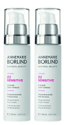 Annemarie Borlind ZZ Sensitive Regenerative Day Cream and Night Cream Bundle With Shea Butter and Sunflower Seed Oil, 50ml Each