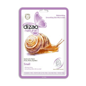 Snail (5 sheet masks) DIZAO Natural Facial Mask. Hyaluronic Mask ( Face, Neck, Eyelids) Moisturising, Smoothing Skin Microrelief. FREE