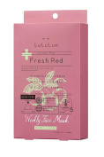 Lululun Plus -Fresh Red- Mask 30ml/1fl.oz x 5 Sheets