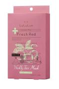 Lululun Plus -Fresh Red- Mask 30ml/1fl.oz x 5 Sheets