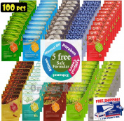 {Entel} 100 Pcs Combo-Pack, Premium Korean Essence Facial Mask Sheet (10 Types x 10 pcs), Five Chemical Free : No Paraben, No Silicon, No Mineral Oil, No Artificial Colours,No Ethanol …